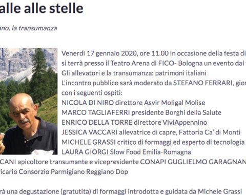 Transumanza, Dalle stalle alle stelle, patrimonio italiano